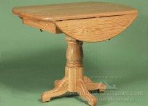 Mount Tabor Round Pedestal Drop Leaf Table